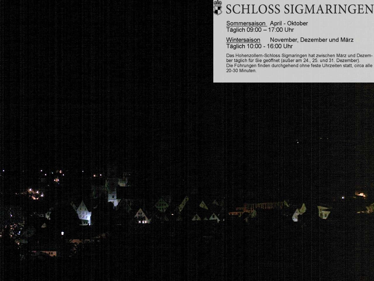 Sigmaringen - Blick vom Josefsberg auf das Schloss und die Stadt